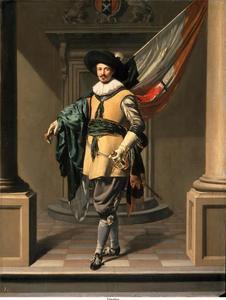 Portret van Loef Fredericksz. ( -1668) als vaandrig
