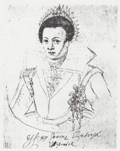 Portret van Elisabeth Jane Westonia (1582-1612)
