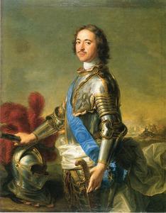 Portret van tsaar Peter de Grote (1672-1725)