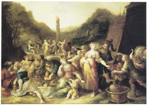 Het volk danst om het Gouden Kalf (Exodus 32:1-25)