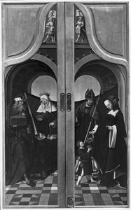 Keizer Hendrik II en de H. Elisabeth van Thüringen (links), de HH. Martinus van Tours (?) en Dorothea (rechts)