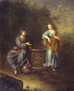 Christus en de Samaritaanse vrouw aan de bron van Jacob