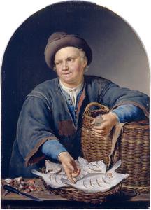 Een visverkoper