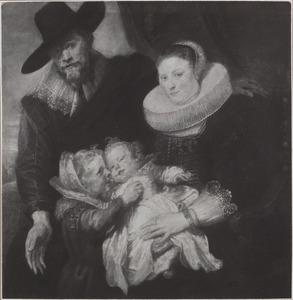 Portret van een echtpaar met twee kinderen, mogelijk Cornelis de Vos (1584-1651) en zijn gezin