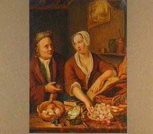 Paar in een keuken