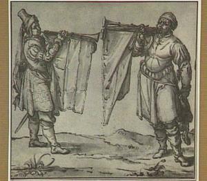 Twee staande trompetspelers