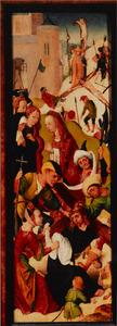 Episoden uit het lijdensverhaal van Christus (voorzijde); De mis van de H. Gregorius (achterzijde)