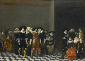 Bruiloftsfeest, vanouds bekend als de bruiloft van Adriaen Ploos van Amstel en Agnes van Bijlert, 1616