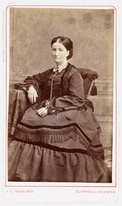 Portret van Charlotte Maria Scheidius (1830-1900)