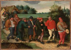 De boerenbruiloft: de processie van de bruidegom