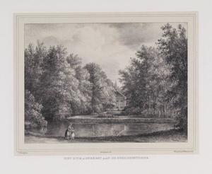 Parklandschap met gezicht op de noordoostzijde van de hofstede Adegeest