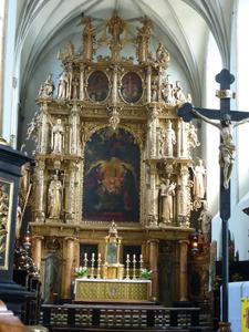 De H. Nicolaas tot bisschop van Mira gewijd door Christus en Maria