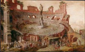 Stierengevecht in een antieke arena