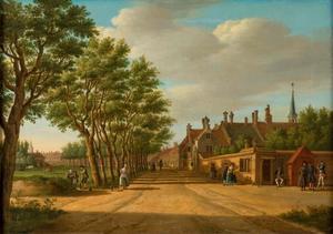Den Haag; de Bocht van Guinea gezien naar de Wagenbrug (het tegenwoordige Huygenspark)