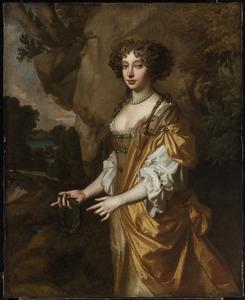 Portret van een vrouw, mogelijk Nell Gwynn (1650-1687), maitresse van Karel II van Engeland