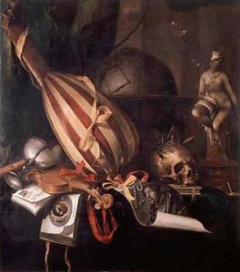 Vanitasstilleven met allegorie op de ondergang van Jan van Leiden