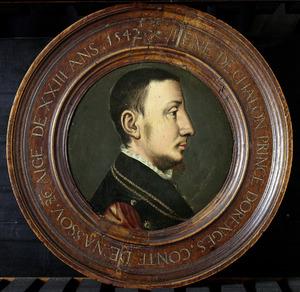 Portret van René van Châlon, prins van Oranje (1519-1544)