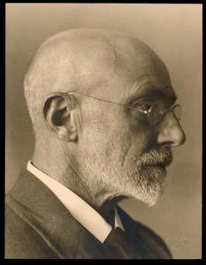 Portret van een man en profil