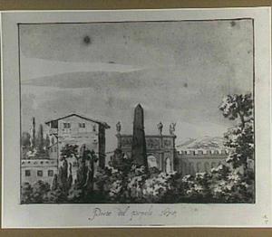 Rome, Porta del Popolo en Egyptische obelisk
