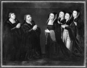 Portret van Adriaen Willemsz. Ploos (....-1540) en zijn familie