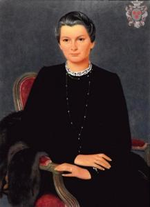 Portret van Christina Diderika van der Crab (1892-1961)