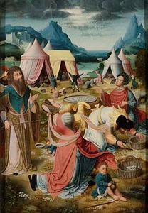 De inzameling van het manna (Exodus 16:11-36; Numeri 11:7-9)