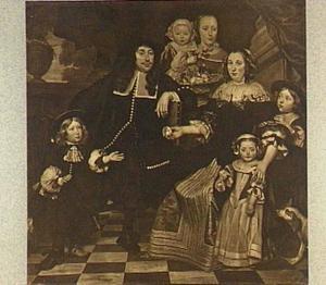 Groepsportret van een familie, 1669