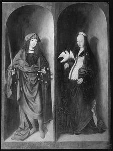 De HH. Valerianus (links) en Cecilia (rechts)