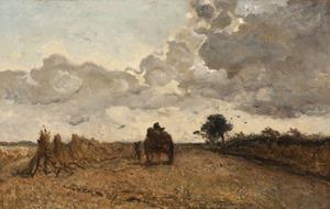 Het laden van de korenschoven