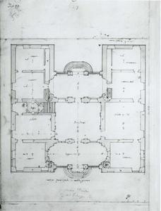 Villa Pallavicino delle Peschiere: Grondplan
