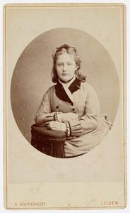 Portret van een meisje, mogelijk uit familie Vissering