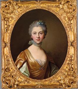 Portret van een elegante jonge vrouw