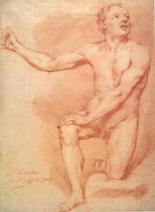 Studie van mannelijk naakt