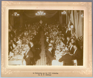 Diner ten gevolge van de zeventigste verjaardag van Hendrik Willem Mesdag