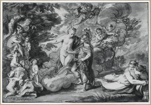 Aeneas ontvangt van Venus een nieuwe wapenrusting
