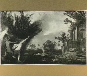 Pan en Syrinx in een landschap (Metamorfosen 1:689-713)