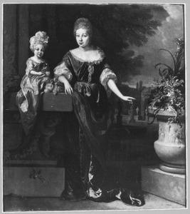 Portret van een jonge vrouw en een klein meisje