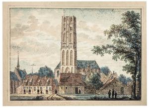 Harderwijk, gezicht in de stad met de Grote Kerk