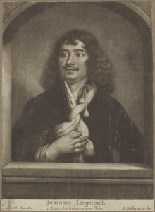 Portret van Johannes Lingelbach (1622-1674)