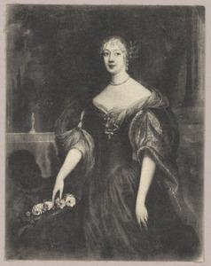 Portret van Anna van Ewsum (?-1716), met een bediende