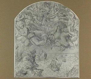 Bazuinende engelen die de zeven plagen aankondigen (Openbaringen 8)