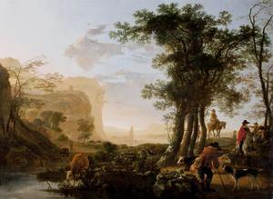 Landschap in het Rijndal