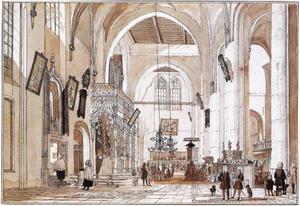 Interieur van de Sint Martinuskerk in Emmerik