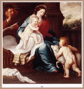 De H. familie en Johannes de Doper als kind