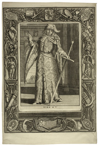 Portret van Dirk V van Holland (1054-1091)