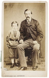 Portret van Pieter Frederik van der Meer van Kuffeler (1826-1871) en Johan Casper Ferdinand van der Meer van Kuffeler (1857-1935)