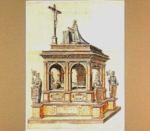 Ontwerp voor het grafmonument van Christiaan III van Denemarken