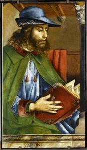 Solon (640-558 voor Chr.) uit de serie 'Beroemde Mannen'