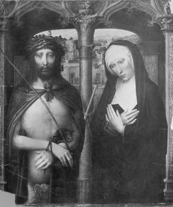 Christus als Man van Smarten met treurende Maria