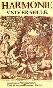 Orfeus spelend voor de wilde dieren (titelblad van het boek 'Harmonie Universelle'')